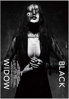 The Modern Weekly China 'Black Widow' Editorial is Deeply Dark trendhunter.com