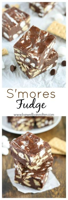 This s'mores fudge is easy to make and a fun treat for the summer or anytime of year! Smores Fudge Recipe, Fudge Recipes, Cookie Recipes, Candy Recipes, Dessert Recipes, Homemade Candies, Christmas Fudge, Christmas Gifts, Christmas Ideas
