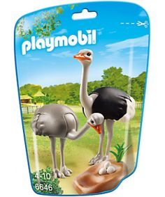 PLAYMOBIL ® figure 6646 FAMILIA DE AVESTRUCES CON NIDO