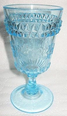 Antiques Set Of 4 Antique Hand Painted Aqua Lemonade Glasses Yet Not Vulgar