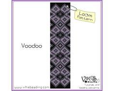 Bracelet pattern for Loom: Voodoo - INSTANT DOWNLOAD pdf - New Discount codes by VikisBeadingPatterns on Etsy https://www.etsy.com/uk/listing/126907328/bracelet-pattern-for-loom-voodoo-instant