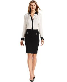 MICHAEL Michael Kors Skirt, Zipper-Pocket Pencil