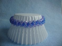 Waves  Blue Beaded Bracelet  by yolybearbeads,