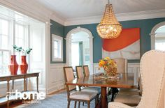 Loving the color scheme of this dining room | Fairfield County, CT | athomefc.com