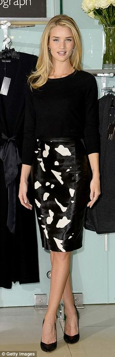 Australian Vogue editor Christina Centenera, left, and model Rosie Huntington-Whiteley, ri...