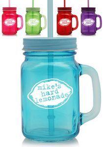 15 oz Colored Glass Mason Jars