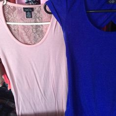 Two small shirts one pink one blue Small Tops Tees - Short Sleeve