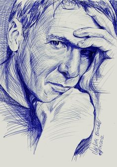 Harrison Ford Ballpoint Pen by AngelinaBenedetti on deviantART