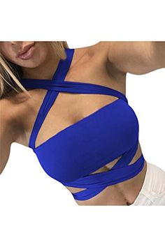 Special Offer: $11.99 amazon.com Materail:Coton BlendDesign:Criss cross strappy,Sexy backless tie up bandage bodycon crop tops.Occasion:fit for party,club,causal,workout ects.Can tie it many different ways for a different style on different outings,Super flattering and super sexyS/M/L/XL...