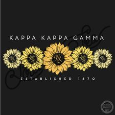 Kappa Kappa Gamma | KKG | Sisterhood | Sunflower | Floral | Summer | South by Sea | Greek Tee Shirts | Greek Tank Tops | Custom Apparel Design | Custom Greek Apparel | Sorority Tee Shirts | Sorority Tanks | Sorority Shirt Designs