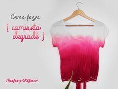DIY: Camiseta com tingimento degradê | SuperZiper