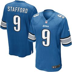 2592a8f5998 Mens Nike Detroit Lions  9 Matthew Stafford Game Light Blue Team Color NFL  Jersey Detroit