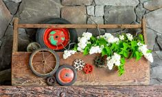 #5. Plant a toolbox planter / 10 upcycled ways to instantly spring up your home! By Funky Junk Interiors for ebay.com