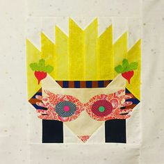 idk whose luna lovegood hazel the hedgehog quilt block this is but it's Everything!!!
