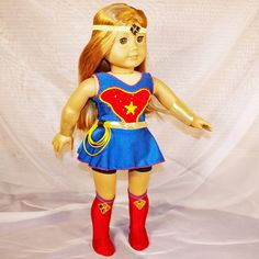 Wonder Girl Diana Inspired Costume Leather Doll Clothes For 18inch American Doll