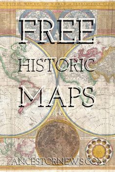 Want to Know Your Ancestor's World? Look at a Map. Free resources for historic maps. Genealogy Sites, Family Genealogy, Genealogy Forms, Genealogy Search, Free Genealogy, Family Tree Research, Genealogy Organization, Budget Organization, My Family History