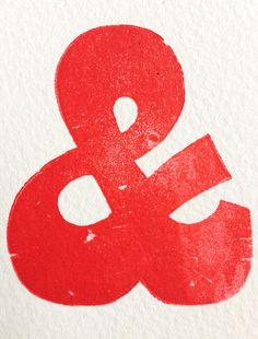 Red ampersand