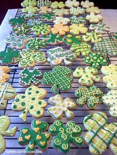 St. Patrick's Day Cookies, Just a decorating idea