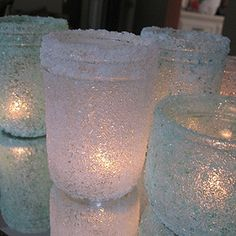 DIY Epsom Salt Luminaries: Some Winter Beauty | Crafts by Amanda