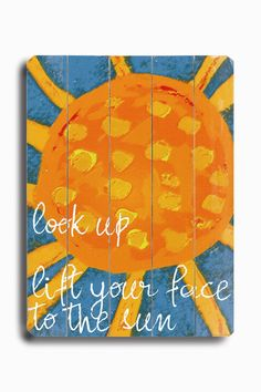 Look Up Planked Graphic Art Plaque