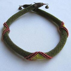 Bead Crochet Necklace Pattern Olivine by WearableArtEmporium, $8.50
