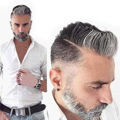 Grey Toupee for Men Hair pieces Fine Mono Mens Toupee Virgin Human Hair Mens Hairstyles Older Mens Hairstyles, Haircuts For Men, Cool Hairstyles, Latest Hairstyles, Beard Styles For Men, Hair And Beard Styles, Short Hair Styles, Hair Toupee, Mens Toupee