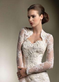 justin alexander 8605 wedding dress and long sleeve lace bolero jacket -- Justin Alexander Wedding Dresses Spring 2012