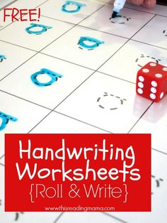 Free Handwriting Worksheets {Roll & Write} for Print and D'Nealian | This Reading Mama