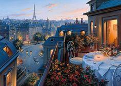 Чудесные городские пейзажи Евгения Лушпина (17 картин)