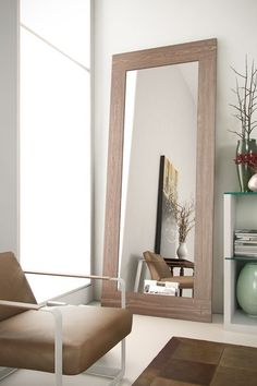 Norfolk Mirror - Walnut by modloft on @HauteLook