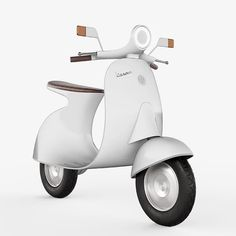 Vespampère scooter the classic Vespa with electric motor and a cantilevered seat. The Vespampère by Italian designer Giulio Iacchetti is a free… Scooter Design, Bike Design, Electric Vespa, Electric Cars, Vespa Models, New Vespa, Classic Vespa, Italian Scooter, Retro Scooter