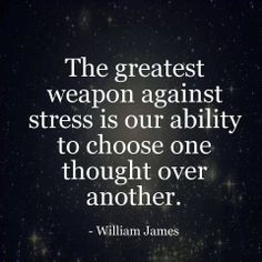 I let stress rule my life. The things that stress me tend to have a monopoly on my mind. I need to consciously choose to think about other things, positive things, so that my stress does not constantly control my life. Quotable Quotes, Motivational Quotes, Inspirational Quotes, Wisdom Quotes, Meaningful Quotes, Yoga Quotes, Quotes Quotes, Funny Quotes, Thoughts