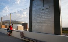 Check out the details inside Lincoln's pedestrian bridge.