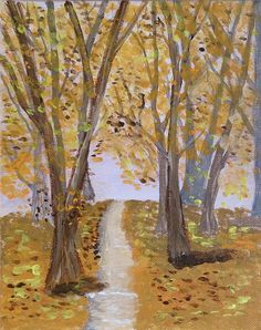 Autumn painting Fall painting Forest painting by AnisArtGallery