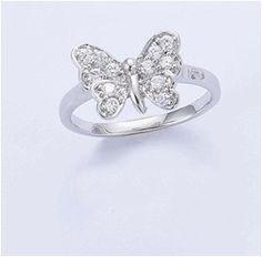 Bague forme papillon en argent 925 millièmes. Poids argent : 3,3 grammes.