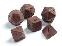 Chocolate Gaming Dice Set. OMG YUM. I wouldn't have dice by the end of the game... >.>