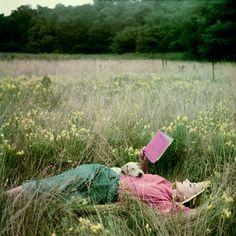 field of flowers #reading #books