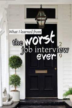 #Interview Prep >> The Worst Job Interview Ever