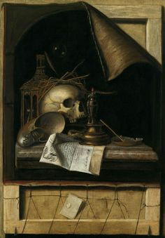 Vanitas ~ by Cornelius Gijsbrechts…. THE LAUGHING HERESIIARCH