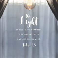 Walk with Jesus -- the Light of the world.