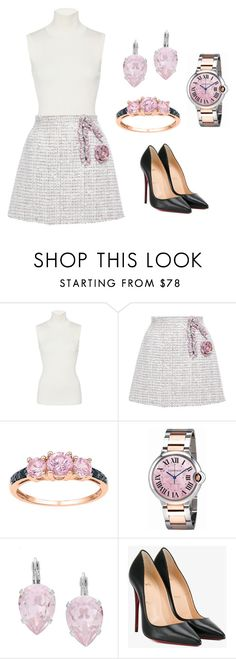"""Romantic (ms)"" by ale-pink5 ❤ liked on Polyvore featuring Giambattista Valli, Cartier, L. Erickson and Christian Louboutin"
