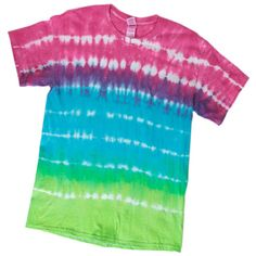 Color outside the lines with this striped tie dye craft.