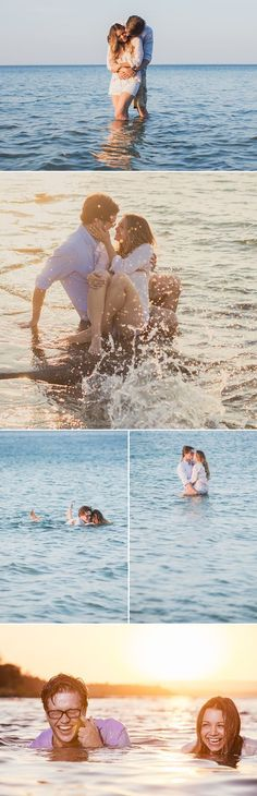 Vintage Backyard and Sunset Beach Engagement from Rowell Photography