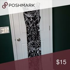 Sundress Black & white sundress. Chico's size 2 is larger than other brands' size 2. Chico's Dresses Maxi