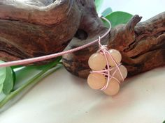 Lemon Jade Pentacle, Star Flower Necklace Pendant Pentagram Amulet for Emotional Balance