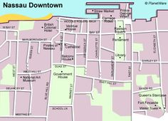 Printable Map of Nassau Bahamas | 11 Top-Rated Tourist Attractions in Nassau