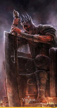Nathaniel Himawan,DS art,Dark Souls,фэндомы,Yhorm The Giant,DSIII персонажи,Dark Souls 3
