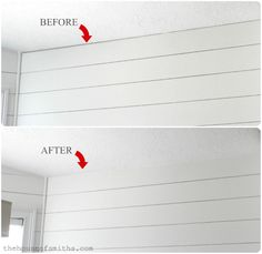 8 Appreciate Hacks: Basement Remodeling On A Budget Barn Doors unfinished basement before and after.Basement Remodeling Home Improvements. Wood Plank Walls, Wood Planks, Planked Walls, White Plank Walls, White Shiplap Wall, Plywood Walls, Wood 8, Plank Ceiling, Rustic Wood
