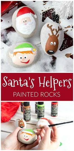 Create this project with Americana® Multi-Surface Acrylics — Create rocks of Santa and his helpers using Americana® Multi-Surface Acrylics.