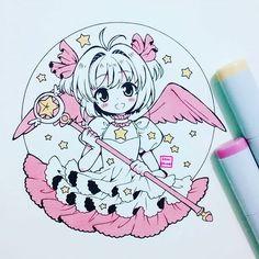 Sakura chan  #sakuracardcaptor #cardcaptorsakura #sakurachan #sakurakinomoto #fanartby_ibu_chuan